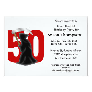 50th Birthday Funny Grim Reaper Card