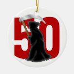 50th Birthday Funny Grim Reaper Ornament