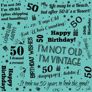 50th Birthday Funny Sayings Small Gift Bag