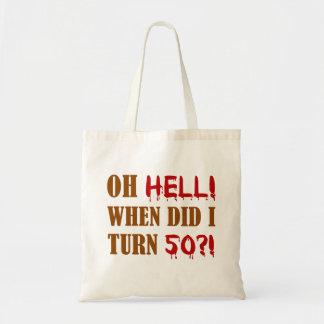 50th Birthday Gag Gift Budget Tote Bag