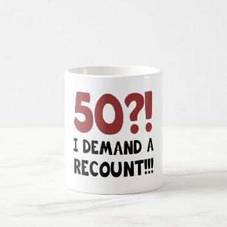 50th Birthday Gag Gift Coffee Mug