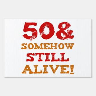 50th Birthday Gag Gift Sign