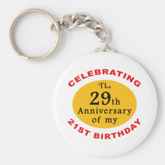 50th Birthday Gag Gifts Keychain