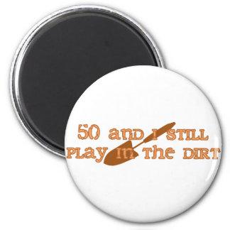 50th Birthday Gardening Magnet