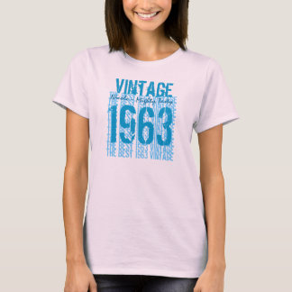 50th Birthday Gift Best 1963 Vintage V009N T-Shirt