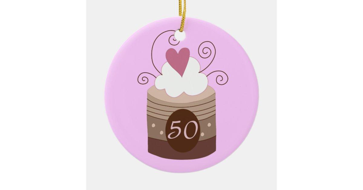 50th Birthday Gift Ideas For Her Ceramic Ornament Zazzle Com