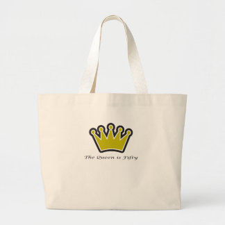 50th birthday gift, The queen is fifty crown!.png Canvas Bags
