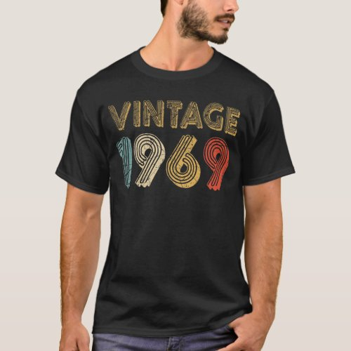 50th Birthday Gift Vintage 1969 T_Shirt