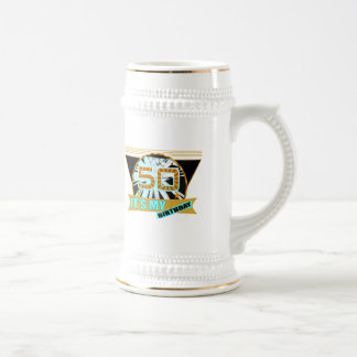 50th Birthday Gifts 18 Oz Beer Stein