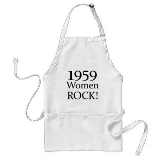 50th Birthday Gifts, 1959 Women Rock! Adult Apron