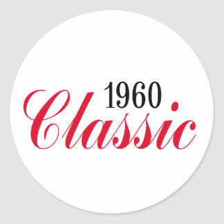 50th birthday gifts, 1960 Classic! Classic Round Sticker