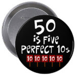 50th birthday gifts, 50 is 5 perfect 10s! pins