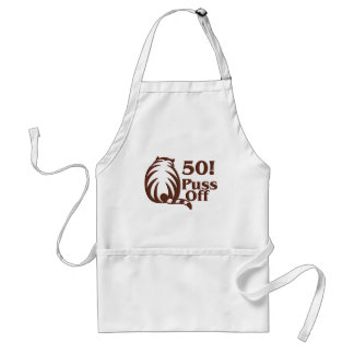 50th Birthday Gifts, 50 Puss Off! Adult Apron