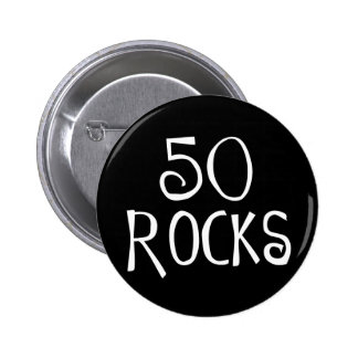 50th birthday gifts, 50 ROCKS Buttons