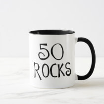 50th birthday gifts, 50 ROCKS Mug