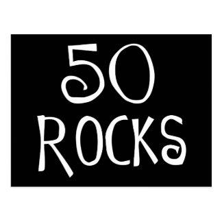 50th birthday gifts, 50 ROCKS Postcard