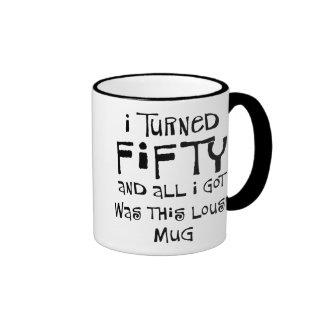50th birthday gifts, I hate this shirt! Ringer Coffee Mug