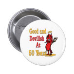 50th Birthday Gifts Pinback Buttons