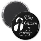 50th birthday gifts, The Queen is 50 - portrait Magnet