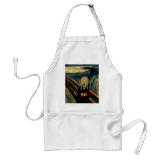 50th Birthday Gifts, The Scream 50! Adult Apron