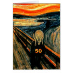 50th Birthday Gifts, The Scream 50! Greeting Card