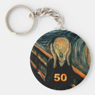 50th Birthday Gifts, The Scream 50! Keychain