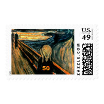 50th Birthday Gifts, The Scream 50! Postage