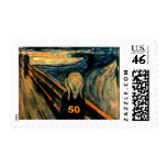 50th Birthday Gifts, The Scream 50! Postage Stamp