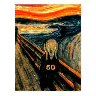 50th Birthday Gifts, The Scream 50! Postcard
