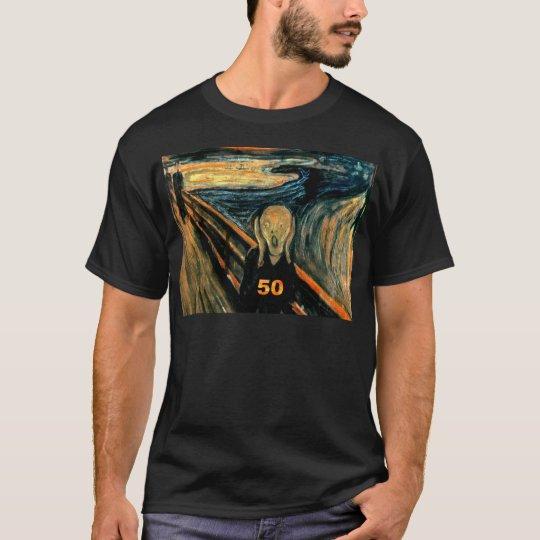50th Birthday Gifts, The Scream 50! T-Shirt