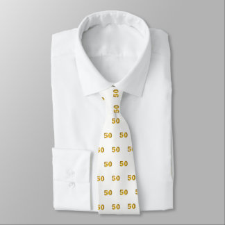 50th Birthday Gold Milestone Tie