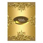 50th Birthday Gold Party Invitation