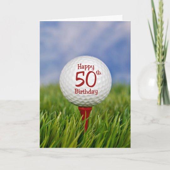 50th Birthday Golf Ball Card