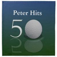 50th Birthday Golf Napkins