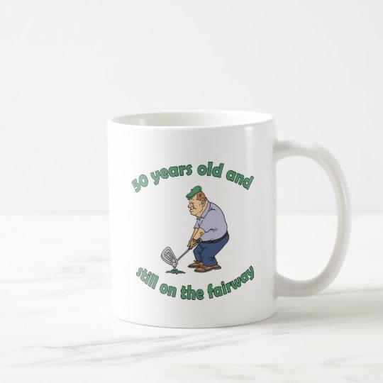 50th Birthday Golfer Gag Gift Coffee Mug