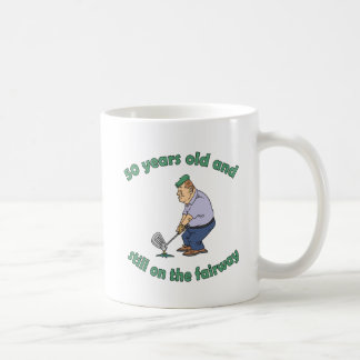 50th Birthday Golfer Gag Gift Mugs