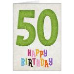 50th Birthday Happy Birthday Card Design 2