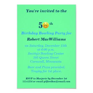 50th Birthday Happy Face Party Invitation