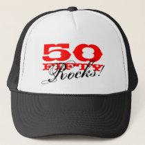 50th Birthday hat   Fifty Rocks!