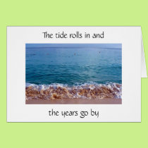 50th BIRTHDAY HUMOR AS THE TIDE ROLLS IN Card