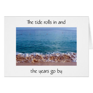 50th BIRTHDAY HUMOR AS THE TIDE ROLLS IN Greeting Card