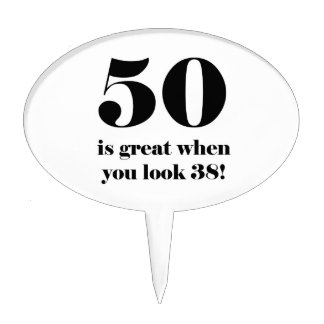 50th Birthday Humor Cake Toppers