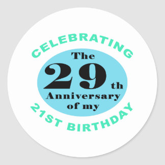 50th Birthday Humor Classic Round Sticker
