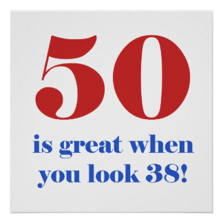 50th Birthday Humor Gifts Posters