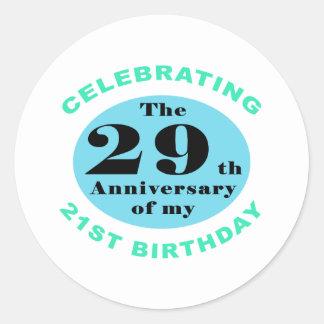 50th Birthday Humor Round Sticker