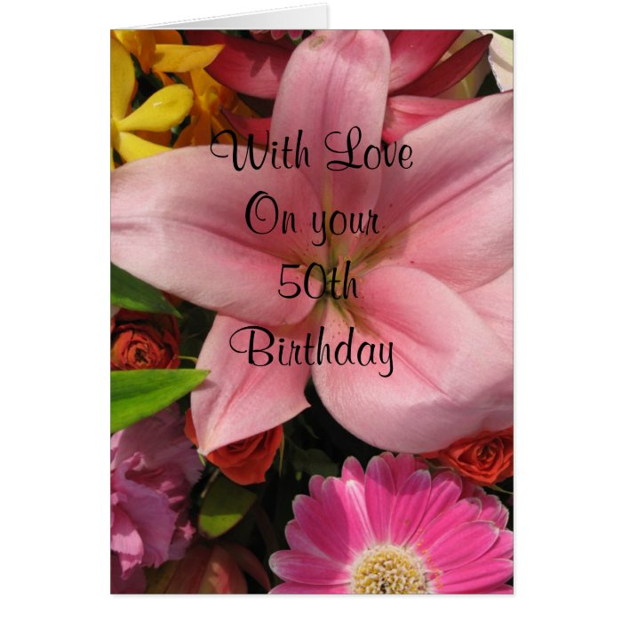 50th Birthday Inspirational Card