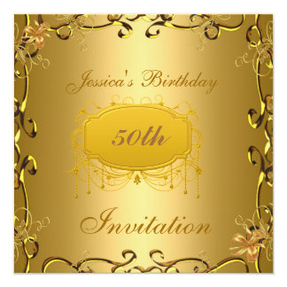 50th Birthday Invitation All Occasions Gold