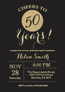 Women 50th Birthday Invitations