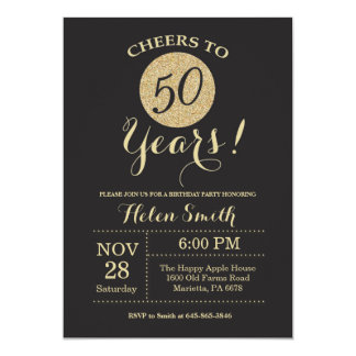 Th Birthday Invitations Announcements Zazzle - 50th birthday invitation images