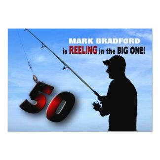 50TH Birthday Invitation - Fishing